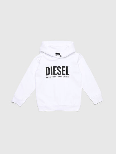 Diesel - SDIVISION-LOGO OVER, Blanc - Pull Cotton - Image 1