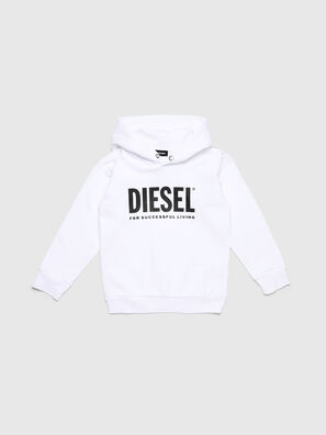 SDIVISION-LOGO OVER, Blanc - Pull Cotton