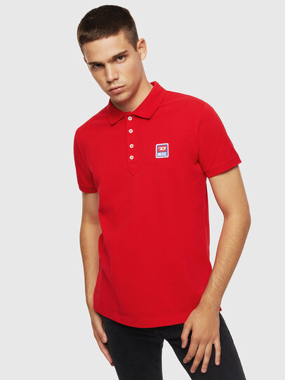 Diesel - T-KAL-PATCH, Rouge - Polos - Image 1