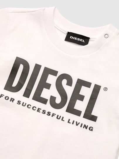 Diesel - TJUSTLOGOB, Blanc - T-shirts et Hauts - Image 3