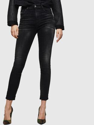 Babhila High 0092B, Noir/Gris foncé - Jeans
