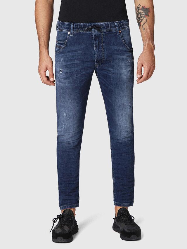 Diesel - Krooley JoggJeans 0686W, Bleu Foncé - Jeans - Image 1