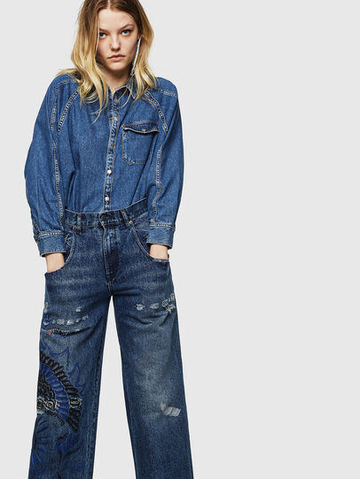 Diesel - Widee 0092Z, Bleu moyen - Jeans - Image 3