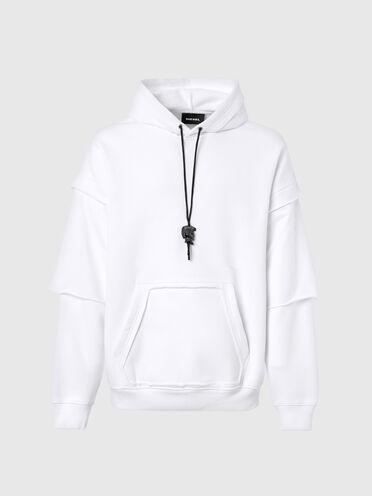 Sweat-shirt à capuche avec poche découpée