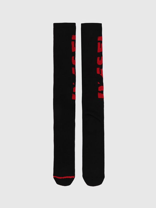 Diesel - SKM-LONG, Noir/Rouge - Chaussettes - Image 1