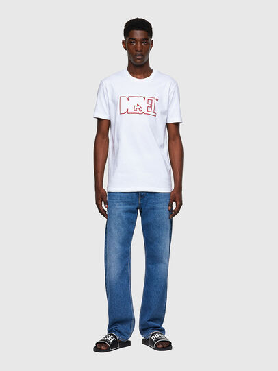 Diesel - T-DIEGOS-B8, Rouge/Blanc - T-Shirts - Image 4