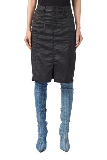 Jupe crayon en JoggJeans® enduit
