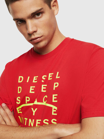 Diesel - T-JUST-J5, Rouge - T-Shirts - Image 3