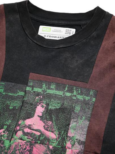 Diesel - D-FRANK&STEIN, Rouge/Noir - T-Shirts - Image 3