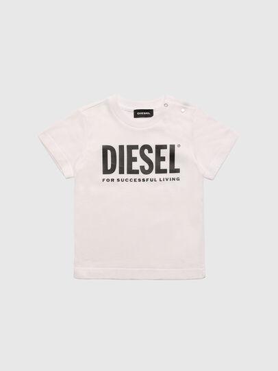 Diesel - TJUSTLOGOB, Blanc - T-shirts et Hauts - Image 1