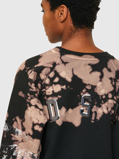 Diesel - F-FABLE, Noir/Rose - Pull Cotton - Image 4