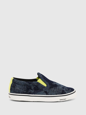 SN SLIP ON 01 LC CH, Bleu - Footwear