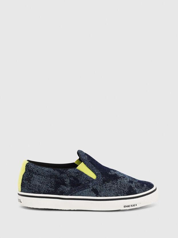 SN SLIP ON 01 LC CH, Bleu - Footwear