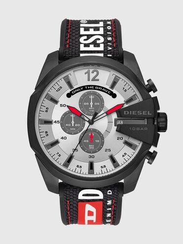 Mega Chief montre chronographe en nylon noir