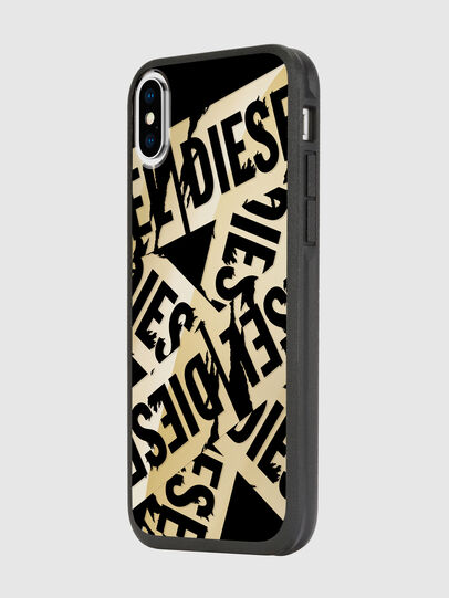 Diesel - MULTI TAPE GOLD/BLACK IPHONE X CASE, Or - Coques - Image 5