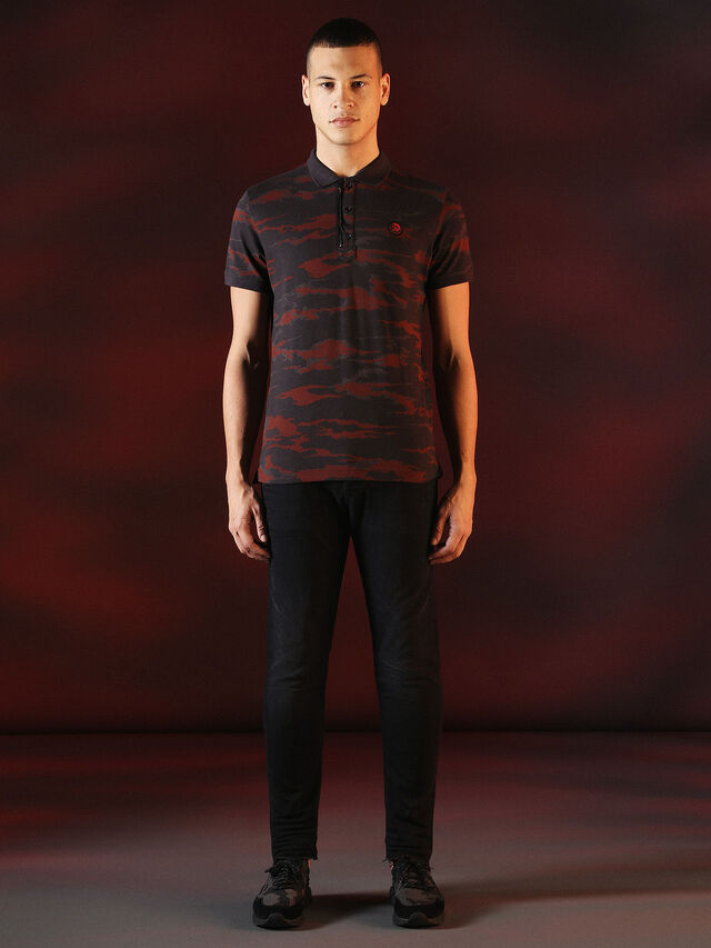 DVL-POLO-SPECIAL COLLECTION, Rouge/noir