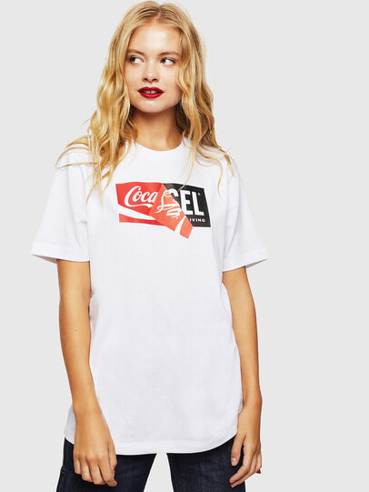 Diesel - CC-T-JUST-COLA, Blanc - T-Shirts - Image 2