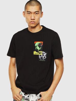 T-JUST-SLITS-J18, Noir - T-Shirts