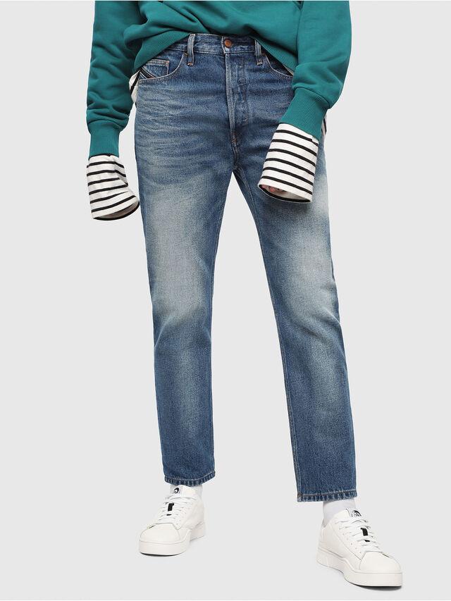 Diesel - D-Aygle 0076Y, Bleu moyen - Jeans - Image 1