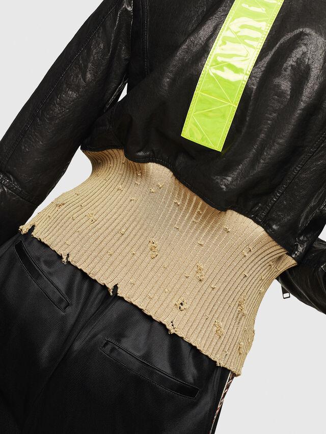 7f6020c137fe5a L-LYS Femme: Veste en cuir avec détails en viscose | Diesel