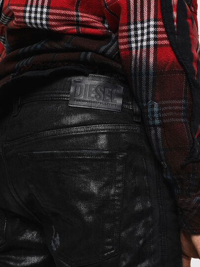 Diesel - Sleenker 0091F, Noir/Gris foncé - Jeans - Image 5