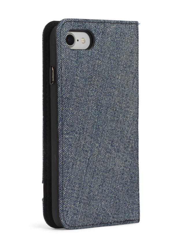 Diesel - DENIM IPHONE 8 PLUS/7 PLUS FOLIO, Jean Bleu - Coques à rabat - Image 7
