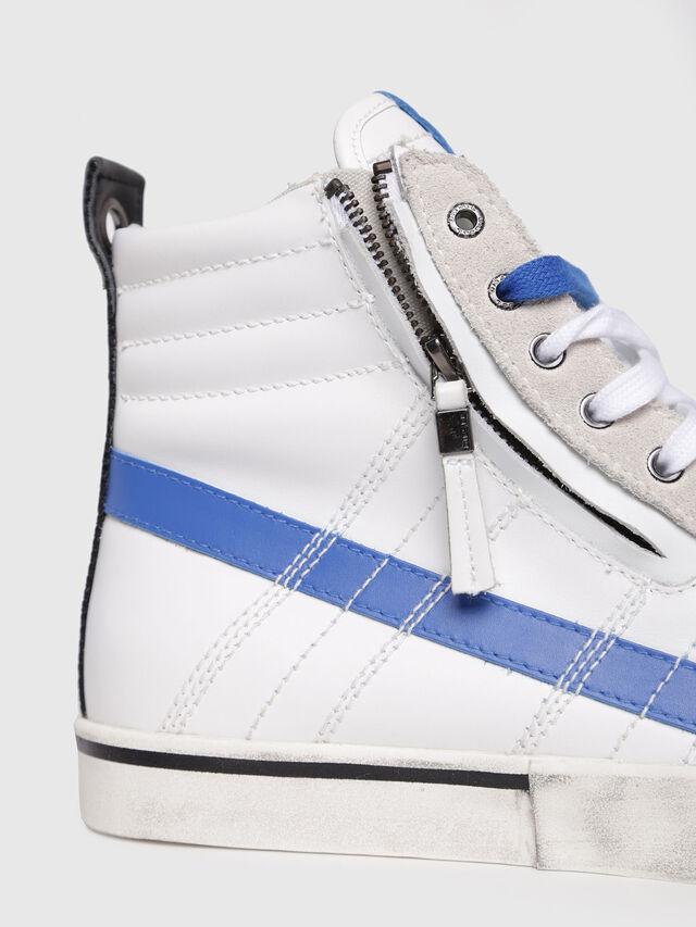 Diesel - D-VELOWS MID LACE, Blanc/Bleu - Baskets - Image 4