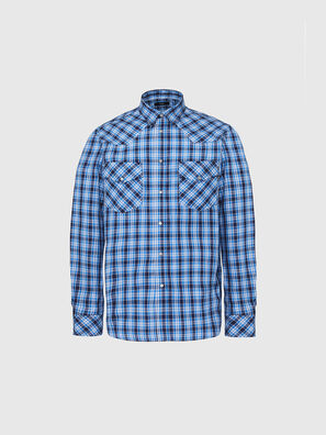 S-EAST-LONG-O, Bleu/Blanc - Chemises
