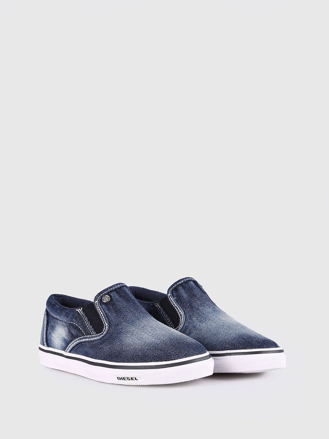 Diesel - SLIP ON 21 DENIM YO, Jean Bleu - Footwear - Image 2