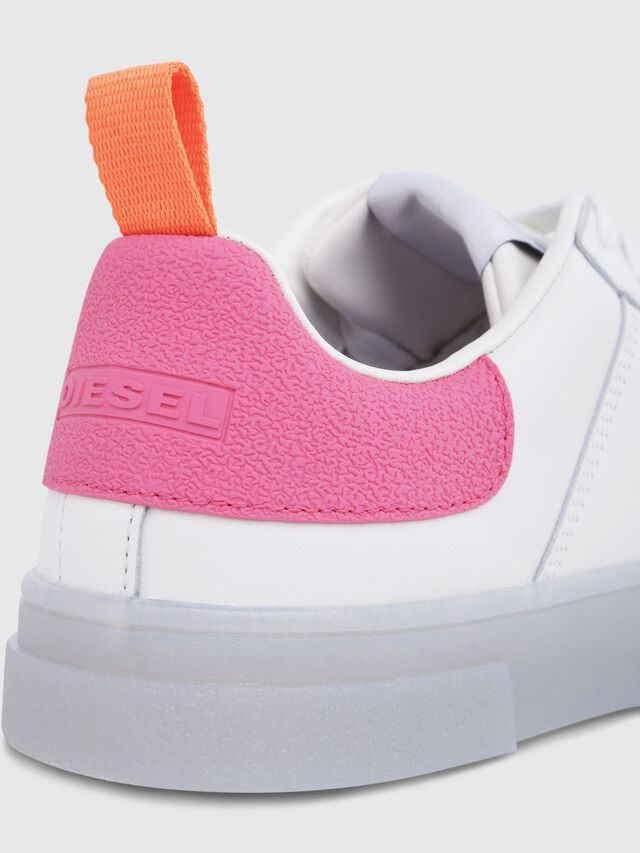 Diesel - S-CLEVER LOW W, Blanc/Rose - Baskets - Image 5