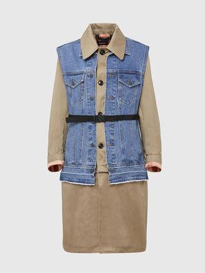 W-CHARIE, Beige/Bleu - Vestes d'hiver
