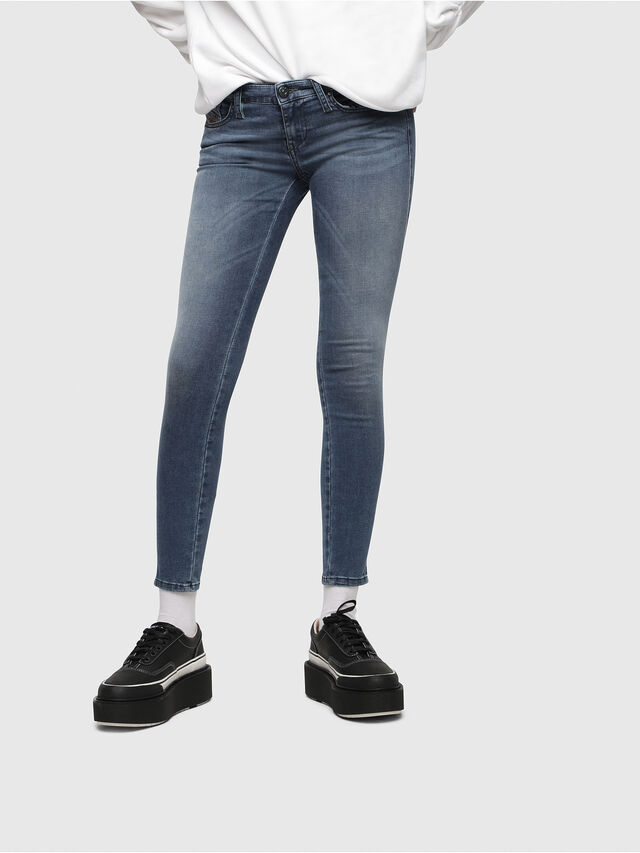Diesel - Skinzee Low Zip 0681P, Bleu moyen - Jeans - Image 1