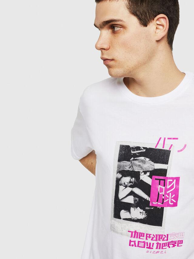 Diesel - T-JUST-Y21, Blanc - T-Shirts - Image 3