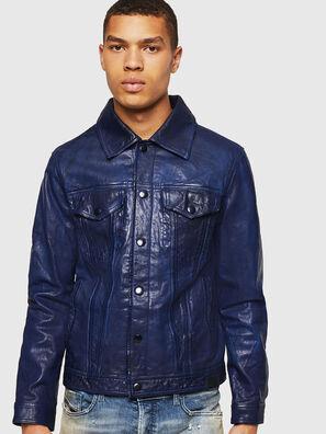 L-NHILL, Bleu - Vestes de cuir
