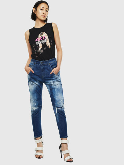 Diesel - Fayza JoggJeans 0099S, Bleu Foncé - Jeans - Image 6