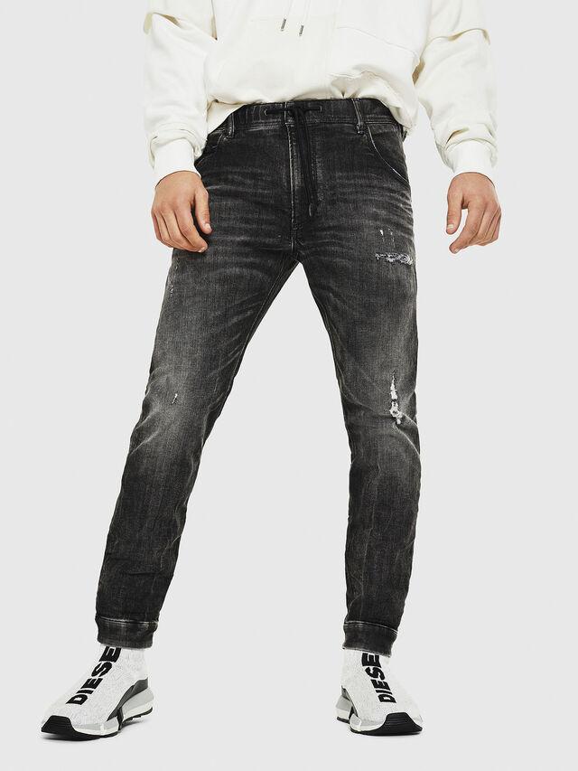Diesel - Dvl-Krooley JoggJeans 0077S, Noir/Gris foncé - Jeans - Image 1
