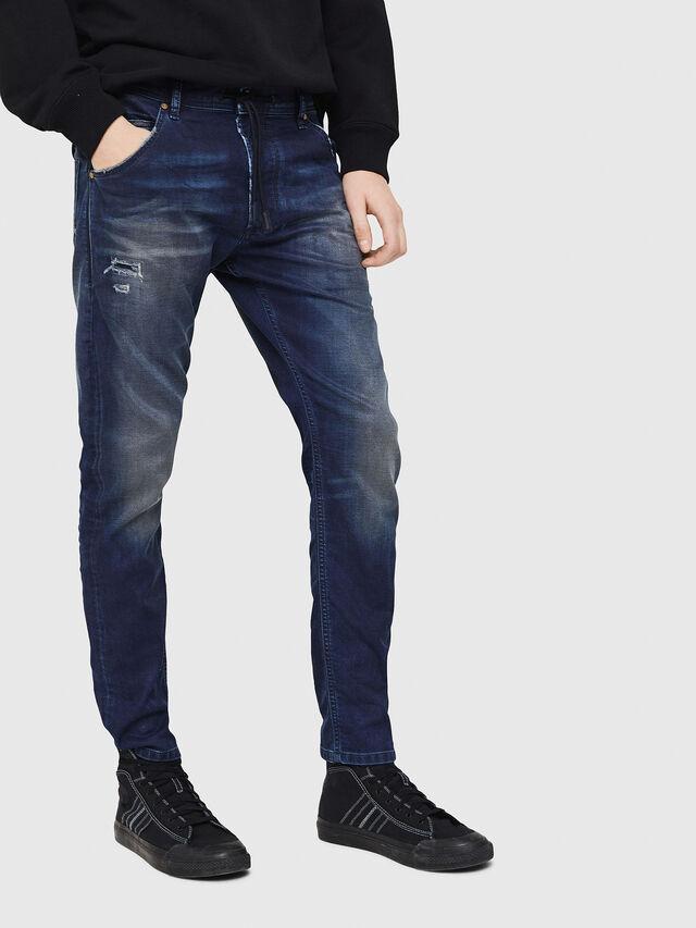 Diesel - Krooley JoggJeans 069GZ, Bleu Foncé - Jeans - Image 1