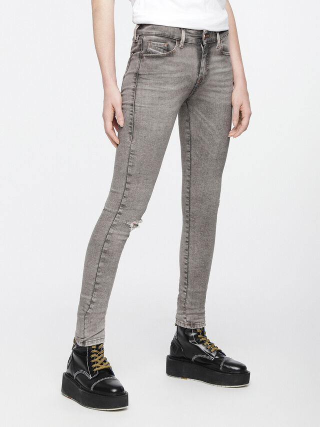 Diesel - Slandy 084UP, Gris Clair - Jeans - Image 2