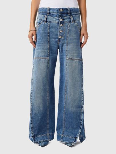 Diesel - D-Laly 0AFAM, Bleu moyen - Jeans - Image 1