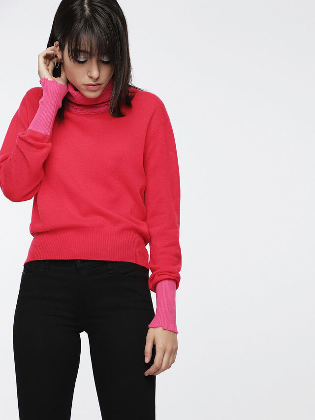 Diesel - M-HACNY, Fuchsia - Pull Maille - Image 1