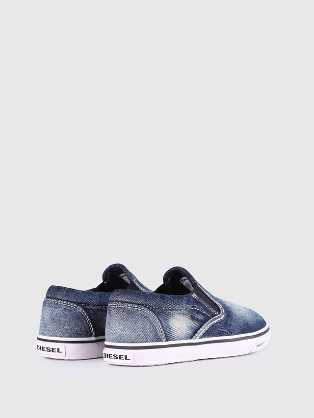 Diesel - SLIP ON 21 DENIM YO, Jean Bleu - Footwear - Image 3