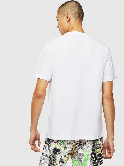 Diesel - T-JUST-SLITS-J18, Blanc - T-Shirts - Image 2