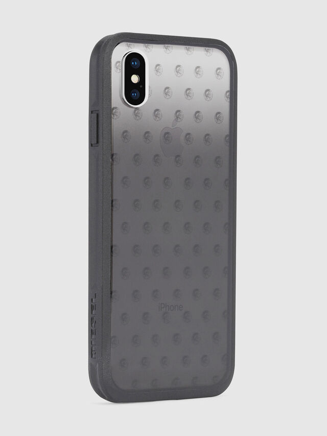 Diesel - MOHICAN HEAD DOTS BLACK IPHONE X CASE, Noir/Gris - Coques - Image 5