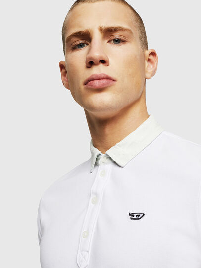 Diesel - T-MILES-NEW, Blanc - Polos - Image 3