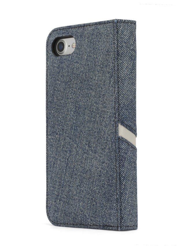 Diesel - DENIM IPHONE 8 PLUS/7 PLUS FOLIO, Jean Bleu - Coques à rabat - Image 6