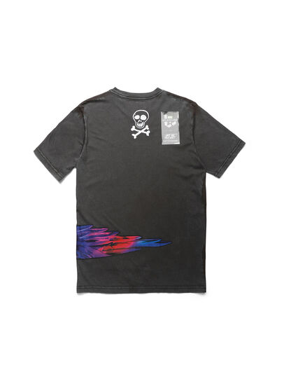 Diesel - D-5055-G, Noir - T-Shirts - Image 2