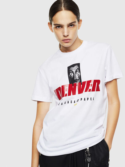 Diesel - LCP-T-DIEGO-DENVER, Blanc - T-Shirts - Image 2