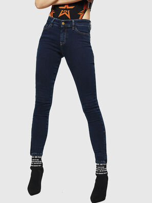 Slandy Zip 083AM, Bleu Foncé - Jeans