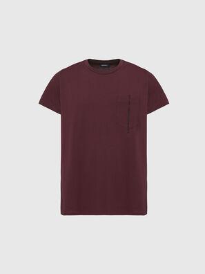 T-RUBIN-POCKET-J1, Rouge - T-Shirts