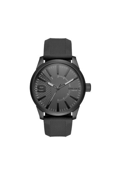 Rasp montre en silicone noire, 46mm